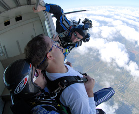 Videographer in Position - Atlanta Skydiving