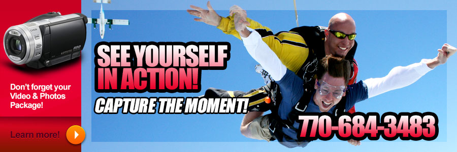 Sunny Side Skydiving Video & Photo Packages