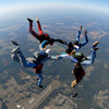 Expert Skydivers in Formation - Atlanta Skydiving